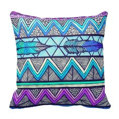 Two Feathers Throw Pillow
