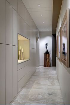 Hallway ideas pictures wonderful hallway ideas to revitalize your home design build narrow hallway designs ideas Hallway Cupboards, Tiled Hallway, Long Hallway, Modern Hallway, Upstairs Hallway, Hallway Storage, Cupboard Storage, Dark Hallway, Yellow Hallway