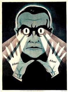 Albani.  French hypnotist poster.