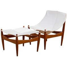 Illum Wikkelsoe Lounge Chair and Ottoman