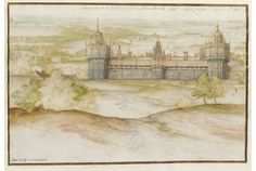 Nonsuch Palace - A Tudor royal palace built by Henry VIII in Surrey.  Work commenced in 1538 and was not yet complete when Henry Died in 1547.  Some elements of the building have been incorporated into other buildings but no trace of the palace remains on site today.