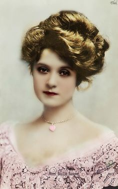 miss blue burke - Billie Burke - She was the good witch in The Wizard of Oz.  Very beautiful as a young woman.