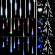 8 Falling Rain Drop/Icicle Snow Fall String LED Xmas Tree Cascading Light Decor #GL