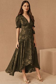 Fall Bridesmaids Dresses from BHLDN are here to give you the perfect colors on wedding day. Plus, they make great wedding guest dresses too! Emerald green, navy, gold and deep ruby, there's a stunning dress for every one of your girls! #gws #greenweddingshoes #bhldn #bridesmaids #dresses Bhldn Bridesmaid Dresses, Bridesmaids, Bride Dresses, Green Wedding Shoes, Groom Dress, Ruffle Skirt, Cut And Style, Dress Brands, Mother Of The Bride
