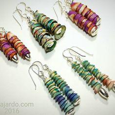 #summer #earrings #polymer #barbfajardo   by Barb Fajardo
