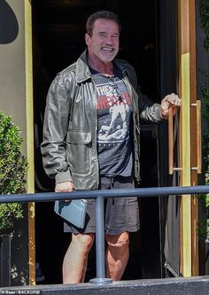 Arnold Schwarzenegger flashes smile after lunch with daughter Christina and ex-wife Maria Shriver