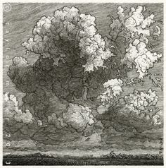 """Vapor,"" 4 x 4 in, Pen and Ink, 2013 by Taylor Mazer, via Behance"