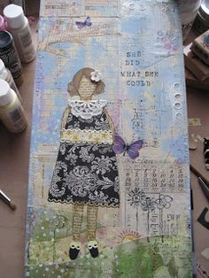Humble Pie Designs: My very first girl......in She ARt