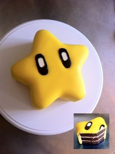 Super mario star cake. So cute! Going to try this for Christopher's birthday party!