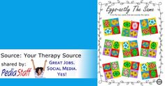 Freebie of the Week: Eggs-actly the Same Visual Discrimination & Spacial Puzzle- pinned by @PediaStaff – Please Visit ht.ly/63sNtfor all our pediatric therapy pins
