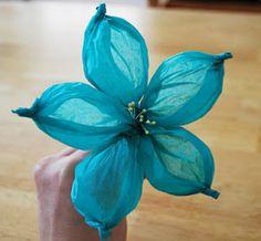 Bloem gemaakt van zijdepapier door LollyChops