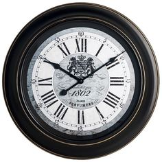 1802 Perfumers Antique Wall Clock, White
