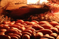 oven roasted potatoes. {pizza oven + olive oil + salt + pepper}
