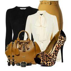 Luv the caramel bag and sunshine skirt ! Sharp !