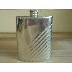 Edwin Blyde Polished Pewter Hip Flask