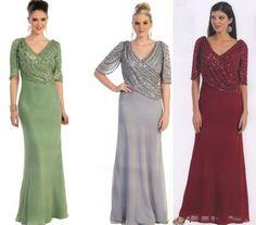 8 Colores ocasión formal Hermoso Madre De Novia / Novio Vestido De Noche M - 5xl