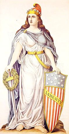 Lady Liberty 1892 - Pictify - your social art network Leiden, American Women, American History, Usa Immigration, Patriotic Images, Independance Day, Lady Justice, Marianne, Social Art