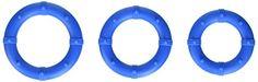Posh Silicone Love Rings, Penisring, blau