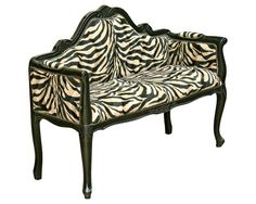 Linen mini chaise longue 120cm casafina living room for Animal print chaise longue