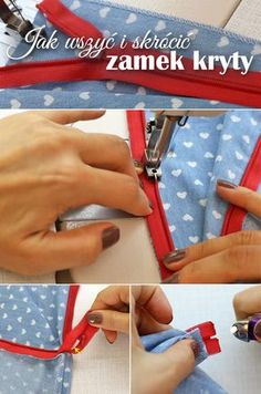 How to install and shorten an invisible zipper - sewing step by step tutorial. Learn how to profesionally sew in a zipper to a skirt, dress or a blouse. Zipper Tutorial, Diy Tutorial, Sewing Projects For Beginners, Diy Projects To Try, House Projects, Sewing Hacks, Sewing Tutorials, Sewing Bras, Sewing Techniques
