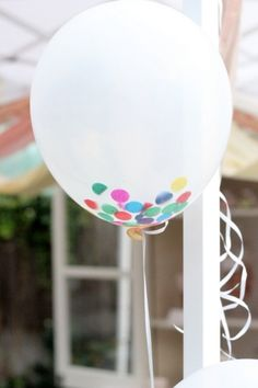 how to make confetti filled balloons