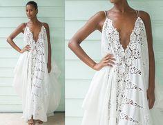 Cotton Lace Dress, White Summer Dress, White Cotton Dress, Cotton Draped Dress, Flowing White Dress, Loose Summer Dress, Cotton Lace Dress by LoisLondonNYC on Etsy https://www.etsy.com/listing/464458523/cotton-lace-dress-white-summer-dress