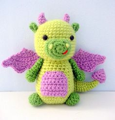 dragon amigurumi, dragon crochet, dragon crochet pattern, dragon crochet toy, dragon amigurumi doll Cute Crochet, Crochet Crafts, Yarn Crafts, Easy Crochet, Crochet Baby, Knit Crochet, Diy Crafts, Crochet Dragon Pattern, Crochet Patterns Amigurumi