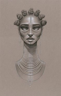 """Her Moondust series of prints features portraits of Black women meant to be a tribute to both Afrofuturism and the """"natural hair sisters."""" Description from theculture.forharriet.com. I searched for this on bing.com/images"""