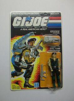 G.I.JOE 1986 DIAL TONE MOC & UNPUNCHED C8+/C9 MOSC MIB MISB FREE SHIPPING!! #Hasbro