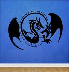 Dragon Wall Decal Sticker Art Decor Bedroom Design Mural  Japan  Anime Vinyl  home decor animals mystic legends room decor by StateOfTheWall on Etsy https://www.etsy.com/listing/221014815/dragon-wall-decal-sticker-art-decor