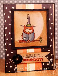 Halloween Hooter - Anna Wight by SweetMissDaisy - Cards and Paper Crafts at Splitcoaststampers