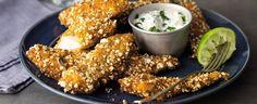 Kuřecí prsty v popcornu s dipem Chicken Wings, Popcorn, Dip, Meat, Food, Salsa, Essen, Meals, Yemek