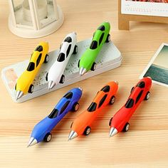0.5mm Cool Fashion Toy Ballpoint Pen Racing Car Students Portable Plastic Smooth Writing Office School Stationery Kids Pens, Pencils & Writing Supplies