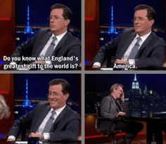 Hugh Lauries laugh sums up the reaction of every British person.