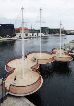 The 'Circle-bridge' in Copenhagen designed by Olafur Eliasson. The bridge is more than just a bridge, it is art. It encourages the citizens to take it slowly and enjoy the area.