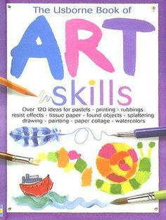 "The Usborne Book of Art Skills...The great-value spiralbound edition of this popular title in ""Usborne's Art Ideas"" series, is packed with ideas for painting, drawing, printing and making collages. Young artists will develop their skills by following the simple step-by-step instructions to complete the inspiring projects. It includes suggestions for lots of exciting ways to use a variety of different art materials. It is spiral-bound to allow easy use and transportation, and means no card…"