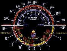 DeForest Crosley radio dial