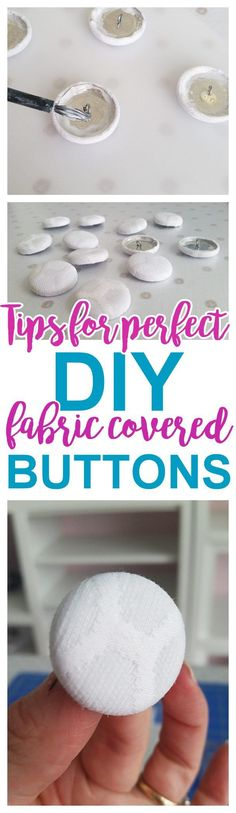 DIY Upholstery Fabric Covered Buttons