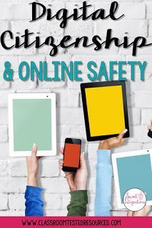 study skills If you're in need resources for teaching digital citizenship and cyber safety, I've provided 4 online resources for you. Technology Lessons, Teaching Technology, Digital Technology, Educational Technology, Technology Integration, Cyber Safety, Digital Footprint, Internet Safety, Safety Online