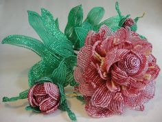 Цветы и деревья из бисера во французской технике бисероплетения от Светланы Сапегиной
