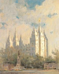 New - Temple Square -  - Limited Edition Giclée on Canvas - 20 x 16