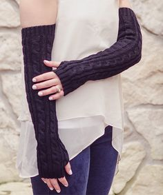 Love this Black Warm & Energetic Arm Warmers by Stay Warm In Style on #zulily! #zulilyfinds