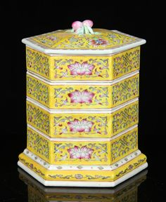 CHINESE FAMILLE ROSE STACKING TRAYS, PORCELAIN Asian Antiques and Estate Auction | Kaminski Auctions