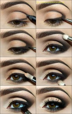 Neutral eyeshadows with cut crease tutorial