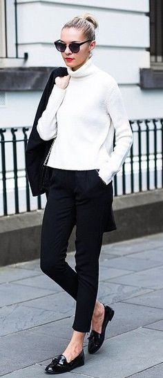 Black and white outfit Via The Trend Spotter