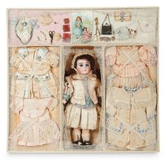 "Sonneberg Bisque Doll by William Dehler in Well-Fitted Presentation Box for ""Gabrielle"" 2200/2800 Auctions Online 