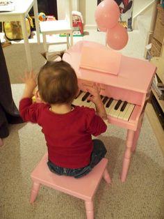 mini pink baby grand piano