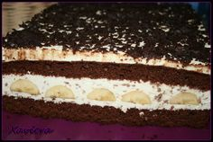 Ciasto przekładane - czekoladowo bananowe