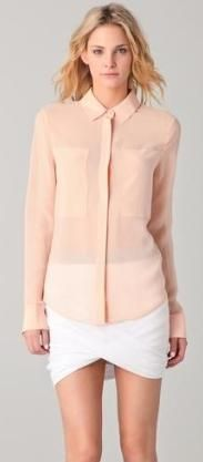 T by Alexander Wang Mesh Shirt ($260).   To order your size contact us at info@shopserafina.com.