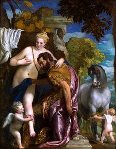 Paolo Veronese (Italian, 1528-1588). Mars and Venus United by Love. Metropolitan Museum of Art, New York